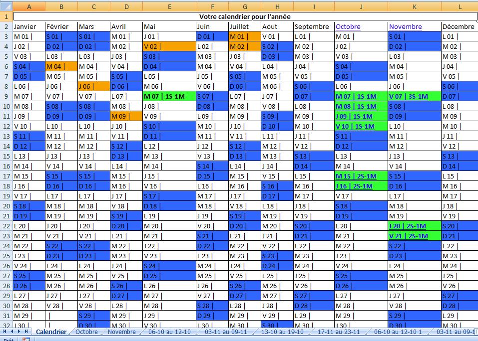 modele planning formation excel  CCMR